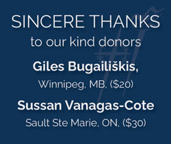 Sincere thanks to our kind donors: